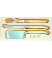 Cheese set 3pc (knife GM + cleaver + fork)