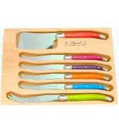 6 pcs set of Laguiole cheese knives (knife GM + cleaver + 4 small knives)
