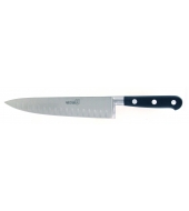 Classic French forged 20cm chef's knife with hollow edge from André Verdier