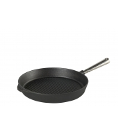 Cast iron grill pan 28 cm with stainless steel handle